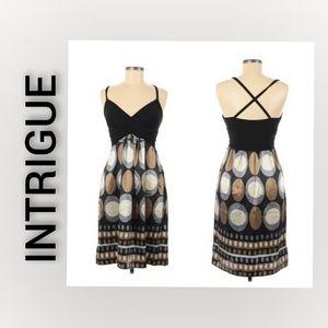 INTRIGUE Speghetti Strap Dress Size 8 Black